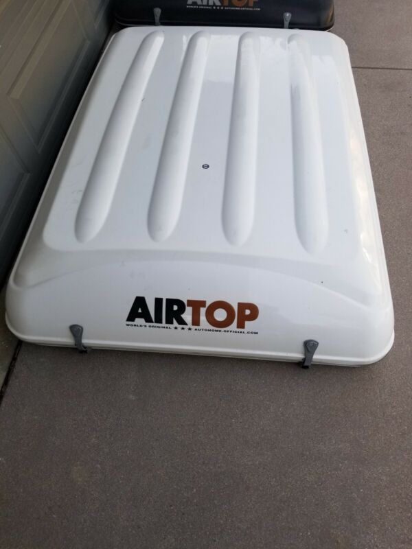 AutoHome AirTop Storm Camp Bed, white with grey material, in very new condition