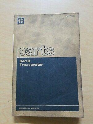 Cat Caterpillar 941b Traxcavator Parts Book Manual