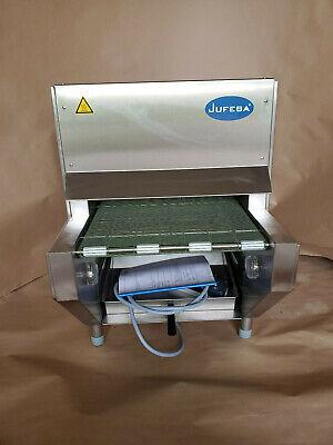 New Jufeba Ln-1 Conveyor Pretzel Baking Oven Machine W Automatic Salt Spreader