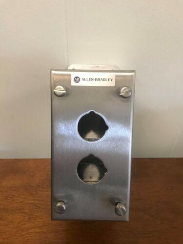 """Allen-Bradley Push Button Enclosure Model#800H-2HZ4 (w/ New 3/4"""" Conduit Hub)"""