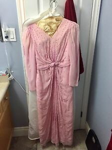 Pink formal evening long dress