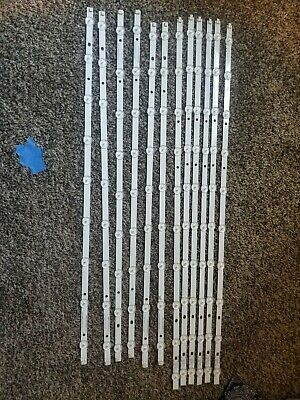 PARTS: 12pc Samsung LED Backlight Strip 2013SVS65 UN65J6200AF LM41 00001J 00001K