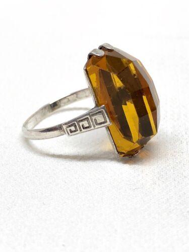 Vintage 875 Russian Silver Geometric Ring 7 3/4 Mid Century Modern