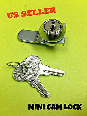 90 Mini Cam Lock File Cabinet Mailbox Desk Drawer Cupboard Locker 2 Keys