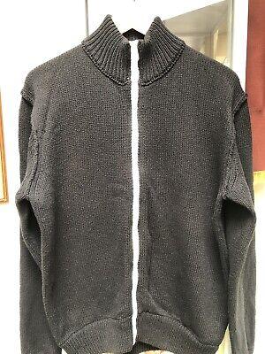 James Perse Zip Thru Cardigan Size 3 Black With White Zip