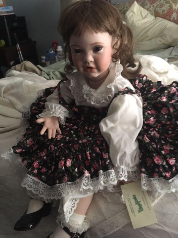 """Handmade Porcelain Doll 28"""" Toddler Size"""