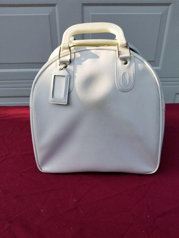 Vintage White AMF Bowling Ball Bag