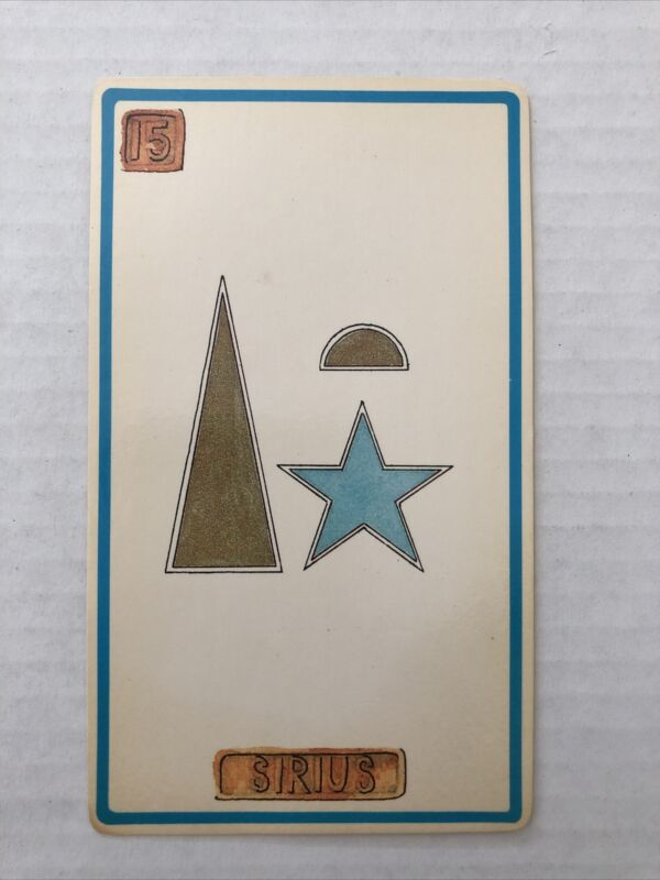 Cartouche Sirius Card 15 Single Card Only No Box
