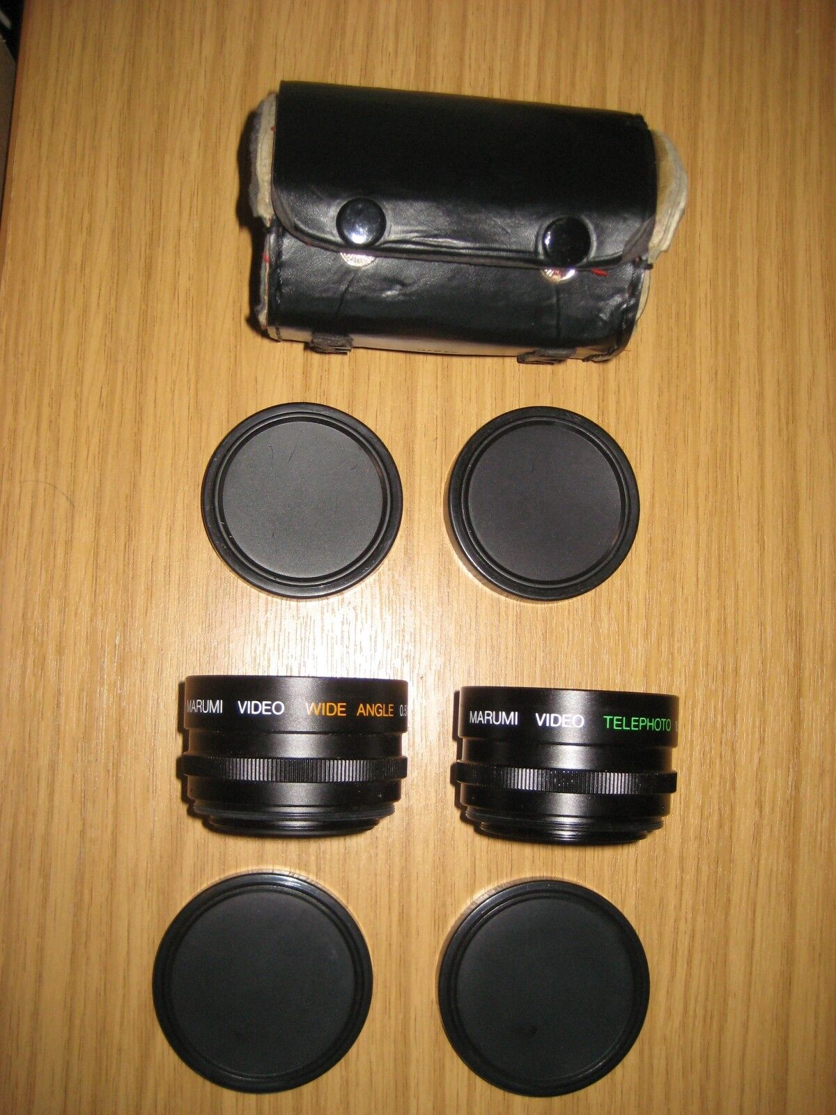 PAIR OF MARUMI TELEPHOTO and WIDE ANGLE LENSES and CASE