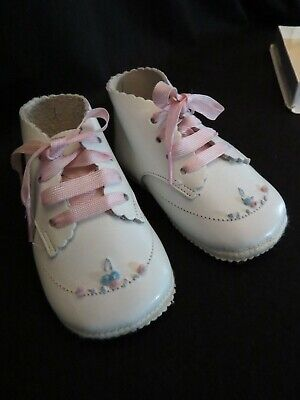 Vintage Adorables Baby Girl Shoes Size 1 Style 517 c. 1960's
