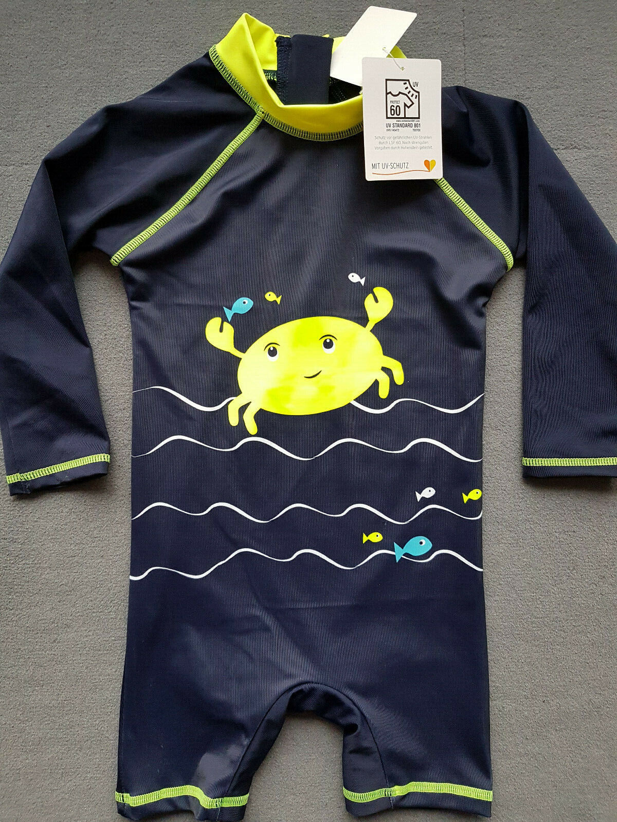UV-Schutz 60+ Schwimmanzug Badeanzug Overall Jungs blau Gr. 80