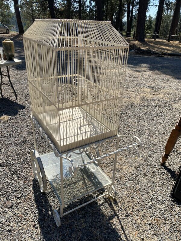 antique bird cage large