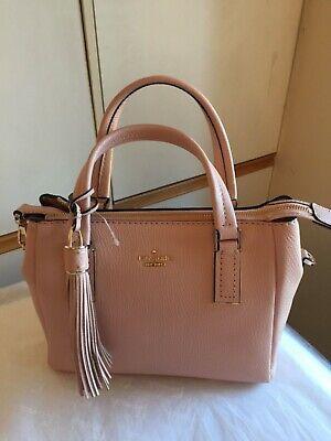 Kate Spade New York  Alena Small Pebbled Satchel Bag Vellum 100% Authentic £295