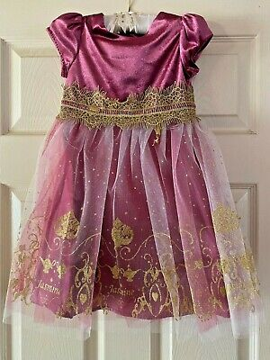 Dressing up Disney Jasmine purple/gold velvet dress BNWT 3-10 years available