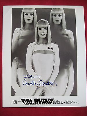 ORIGINAL SIGNED PHOTOGRAPH OF DOROTHY STRATTEN IN GALAXINA SCIENCE FICTION FILM