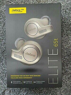 JABRA ELITE 65T True Wireless Bluetooth In-Ear Headphones WITH AMAZON ALEXA GOLD