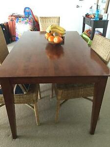 Wood dining table North Narrabeen Pittwater Area Preview