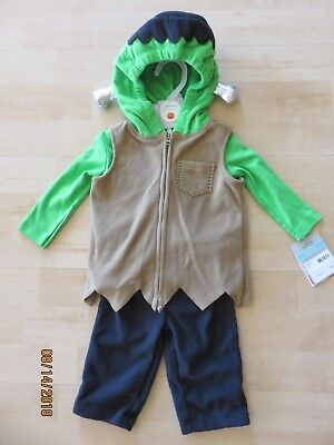 Carters Baby Frankenstein Halloween Costume Infant 12 months New 3 Piece
