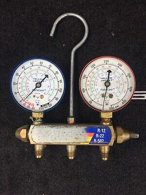 Yellow Jacket Manifold Gauges R12 R22 R502 Test And Charging Ritchie