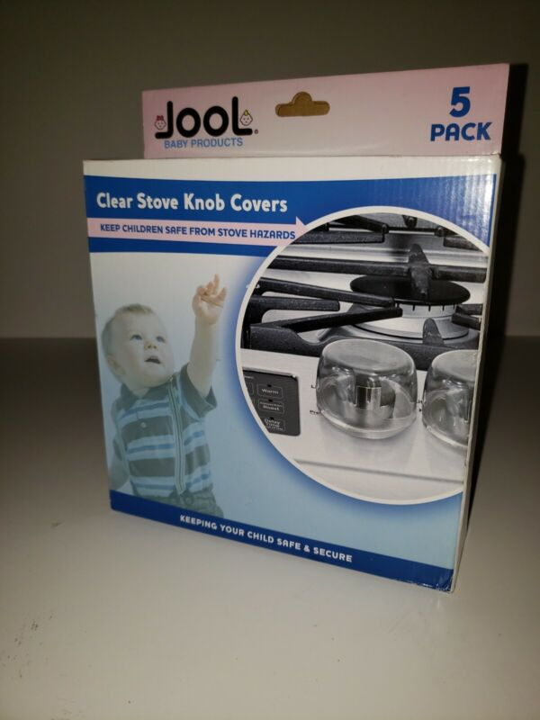 Clear Stove Knob Covers (5 Pack) Large Universal Child Safety Guards - Jool Baby