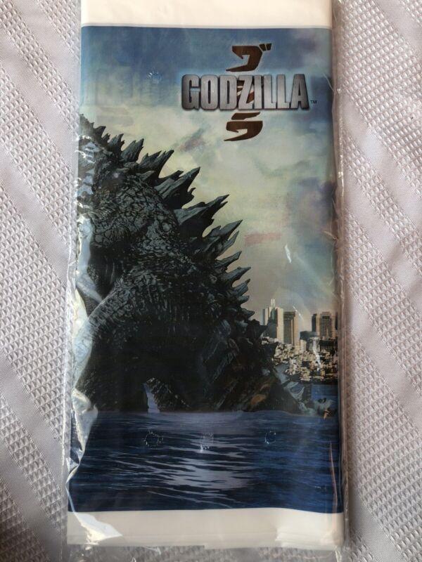 Godzilla Birthday Plastic Tablecover Tablecloth