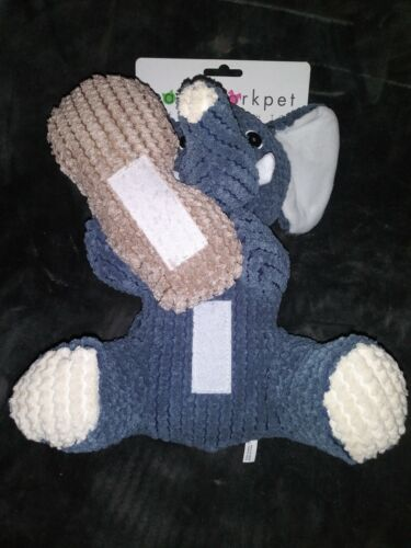 NEW Patchwork Pet 14 Shea The Elephant Crinkly/Grunt/Squeaky Toy For Dogs - $20.00