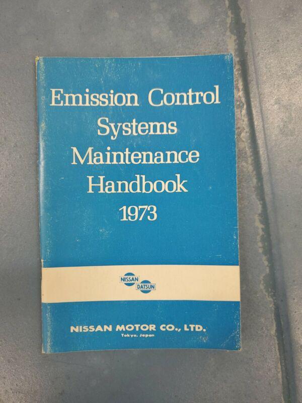 1973 Nissan Datsun Emission Control Handbook 240Z 510