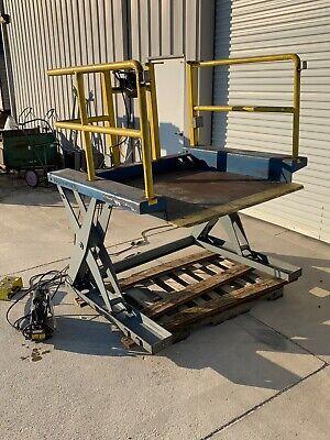 Southworth Zls2-35 Floor Height Pallet Lift Table Scissor Lift With Rails