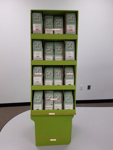 CARDBOARD FLOORSTAND DISPLAY AND SHIPPER, FOR COFFEE OR ANY PRODUCT BAGS