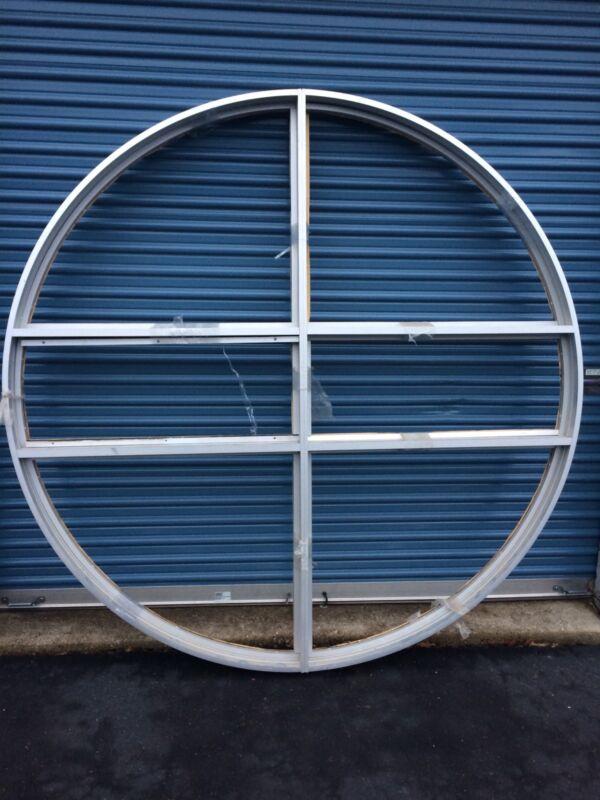 UNIQUE CUSTOM MADE ALUMINUM FABRICATED CIRCLE/PORTHOLE FIXED WINDOW FRAME - NEW