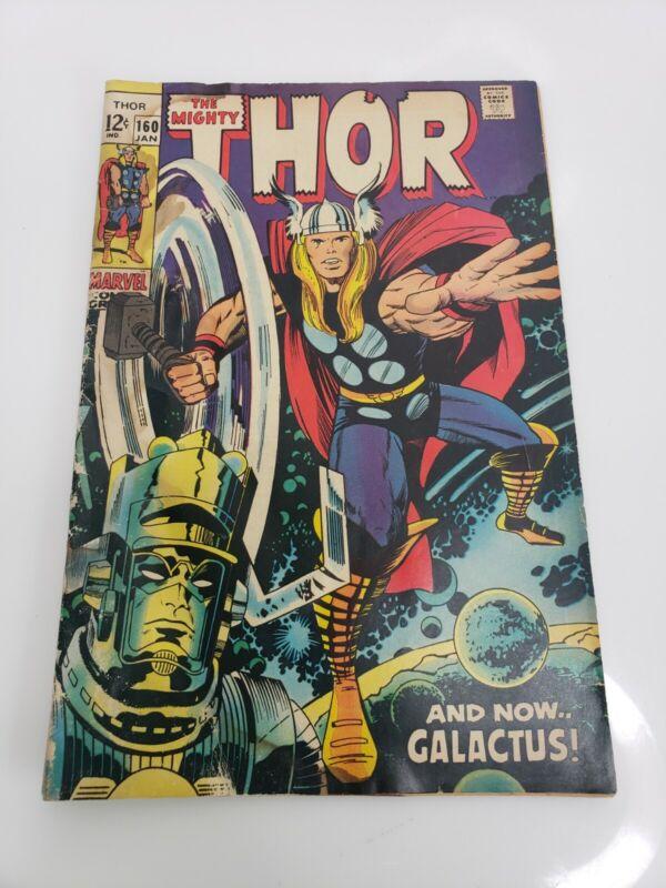 Vintage Marvel The Mighty Thor Vol. 1 No. 160 January 1969 USA