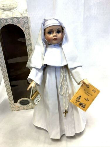 RARE Emerald Doll Collection Sister Teresa Nun White Habit Dress Print Bible COA