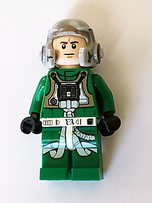 GENUINE LEGO STAR WARS REBEL A-WING PILOT (GREEN SUIT) MINIFIGURE  XLNT 75175