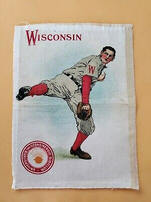 1910's University of Wisconsin Baseball Tobacco Silk