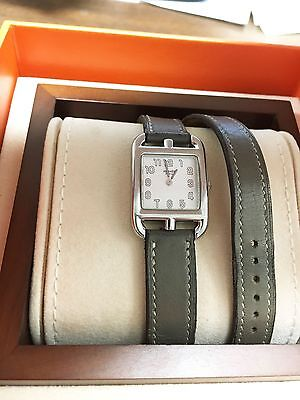 HERMES CAPE COD CC1.210 DOUBLE TOUR PM LADIES WATCH WITH BOX AND PAPERS