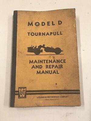 Letourneau-westinghouse Model D Tournapull Maintenance And Repair Manual Catalog