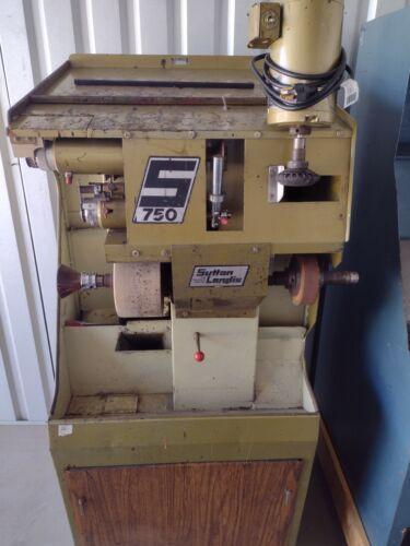 Sutton S-750 finisher, shoe repair, shoe making machine
