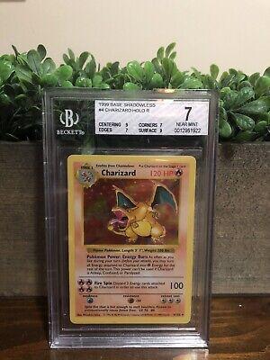 Pokemon Base Set Shadowless Charizard 1999 #4 Holo BGS (PSA Regrade 9 Subs)