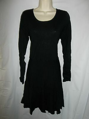 Apt. 9 black pullover A-Line stretch sweater dress Large NWT