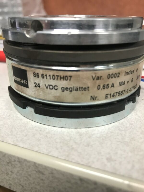 Binder Brake 86 61107H07 24VDC 8661107H07 Used And Works Motor