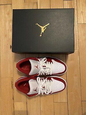 Nike Air Jordan 1 Retro Low Gym Red White UK 7.5 / US 8.5