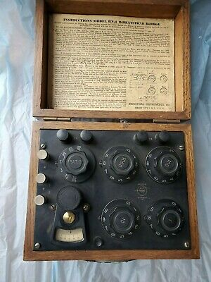Vintage Industrial Instruments Model Rn-1 Wheatstone Bridge Steampunk Device