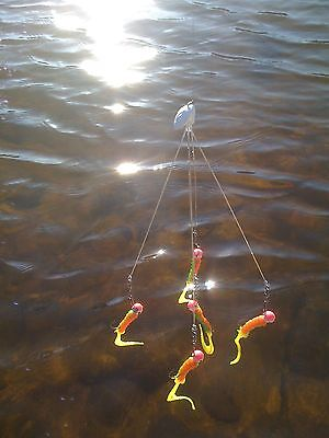 "2 Pack ""Shad School Umbrella Rigs"", Fishing In Florida, Alabama etc .045 wire"