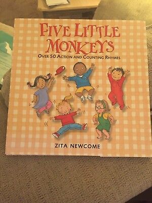 Five Little Monkeys by Zita Newcome Hardback Book +Wheelie Duck and Friends (Little Monkey And Friends)