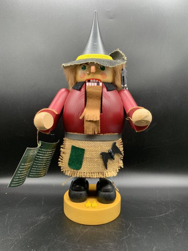 Erzgebirge Nutcracker Richard Glasser - Scarecrow / Halloween / Cats / Bats Rare