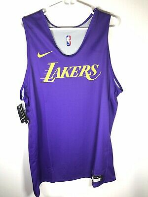 Nike NBA Authentic Los Angeles Lakers Reversible Practice Jersey Size LT PE