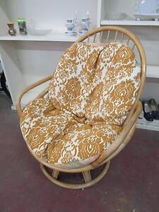 D11056 Vintage RETRO Cane Swivel Egg Pod Chair Unley Unley Area Preview
