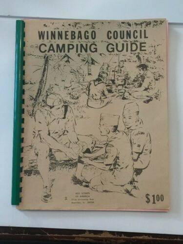 Vintage BSA Winnebago Council Camping Guide Boy Scouts Of America