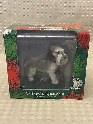 Sandicast Gray Schnauzer Christmas Ornament New In Box ()