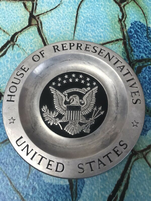 "Vintage US House of Representatives 5.3/4""Across Pewter Plate"